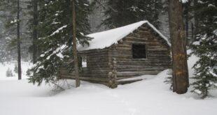I en skov en hytte lå